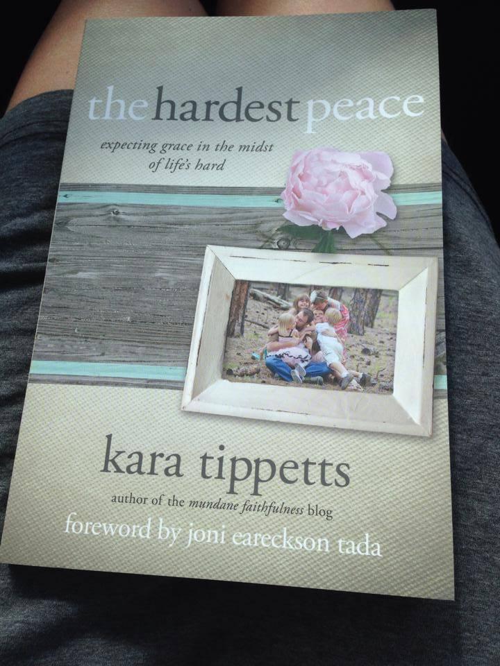 """""""Peace I leave with you""""…hard, hard peace."""